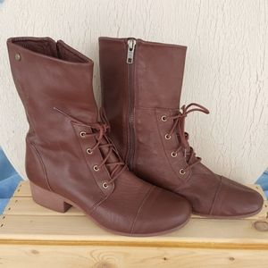 Volcom IN THE MODE Brown Leather Boots (7)
